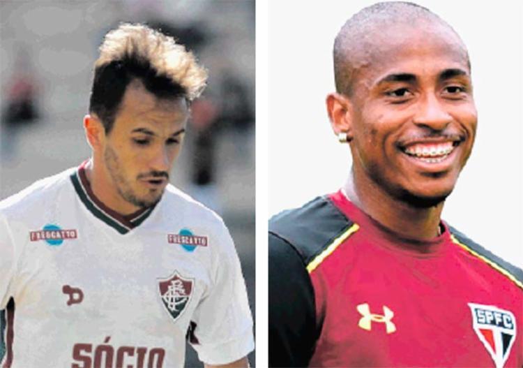 O lateral direito Lucas e o atacante Denílson são as únicas novidades até então no elenco do Leão - Foto: Divulgação