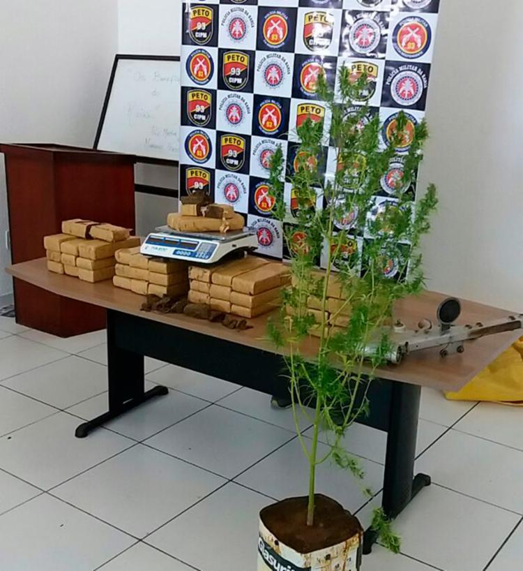 Drogas foram encaminhadas para Delegacia de Maracás - Foto: Divulgação | SSP