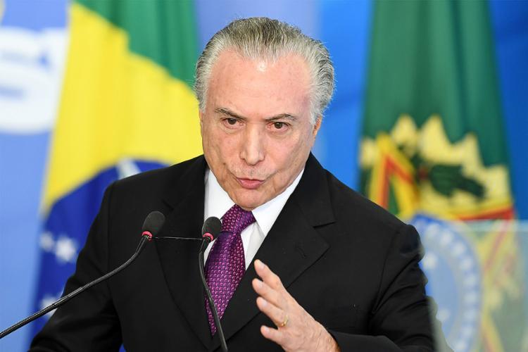 Temer vai responder a 50 perguntas sobre suposto esquema de corrupção no Porto de Santos - Foto: Evaristo Sa l AFP