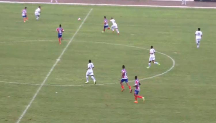 O gol do Esquadrãozinho foi marcado pelo centroavante Geovane Itinga - Foto: Reprodução