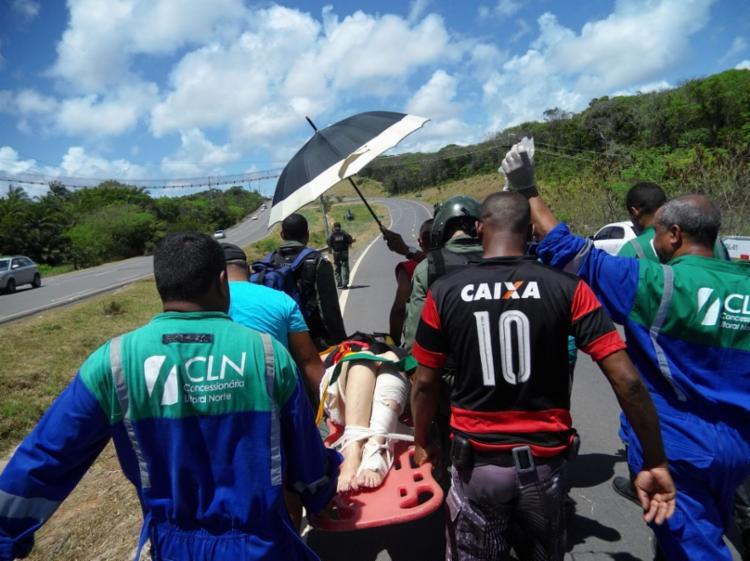 Os feridos foram encaminhados para os hospitais do Subúrbio e de Camaçari - Foto: Divulgação | SSP