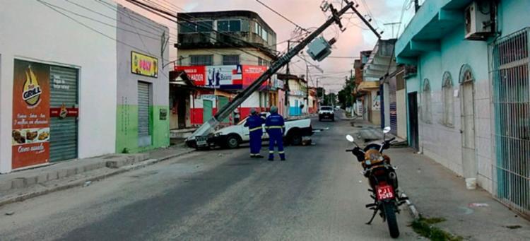 O motorista fugiu após o acidente - Foto: Reprodução   Teixeira News