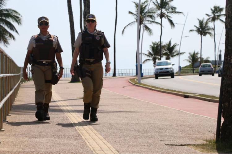 A Polícia Militar ampliou as ações preventivas e ostensivas - Foto: Divulgação   SSP