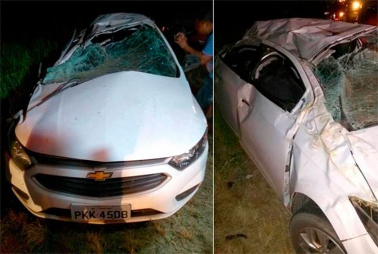 O acidente aconteceu depois que um carro cruzou a pista sem sinalizar - Foto: Reprodução | Simões Filho Online