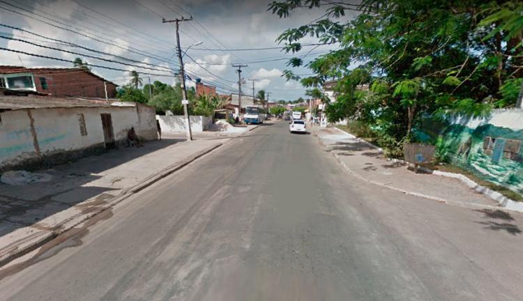 Troca de tiros aconteceu no bairro Buri Satuba - Foto: Reprodução   Google Street View