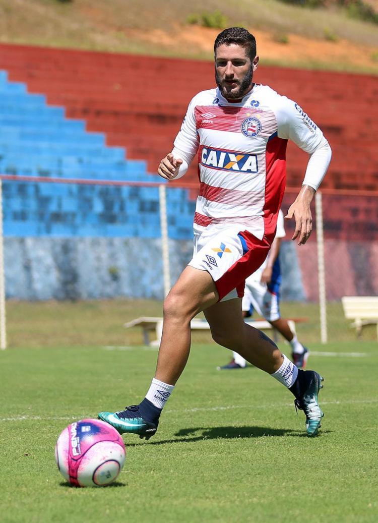 O Cruzeiro estuda fazer uma proposta por Zé Rafael - Foto: Felipe Oliveira l EC Bahia