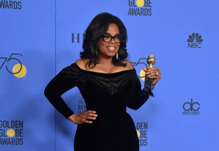 A apresentadora e atriz Oprah Winfrey foi uma das grandes homenageadas da noite - Foto: Frederic J. Brown   AFP