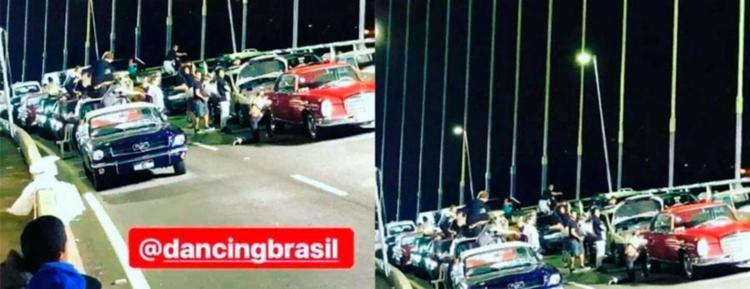 Internautas flagraram o momento e postaram nas redes sociais. - Foto: Reprodução | Instagram