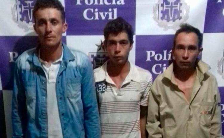 Os suspeitos foram autuados em flagrante por associação criminosa porte e posse ilegal de arma - Foto: Divulgação | Polícia Civil