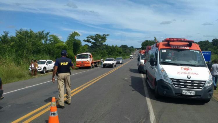 Acidente aconteceu próximo ao posto da Polícia Rodoviária Federal de Itabuna - Foto: Divulgação | PRF