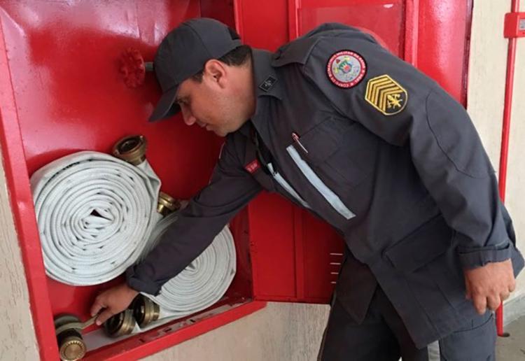 Bombeiros verificaram extintores e medidas de segurança contra incêndio - Foto: Divulgação   SSP-BA