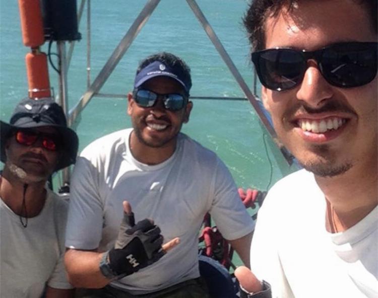 Daniel Guerra e Rodrigo Danta foram contratados para levar o veleiro Rich Harvest para Portugal - Foto: Reprodução | Facebook