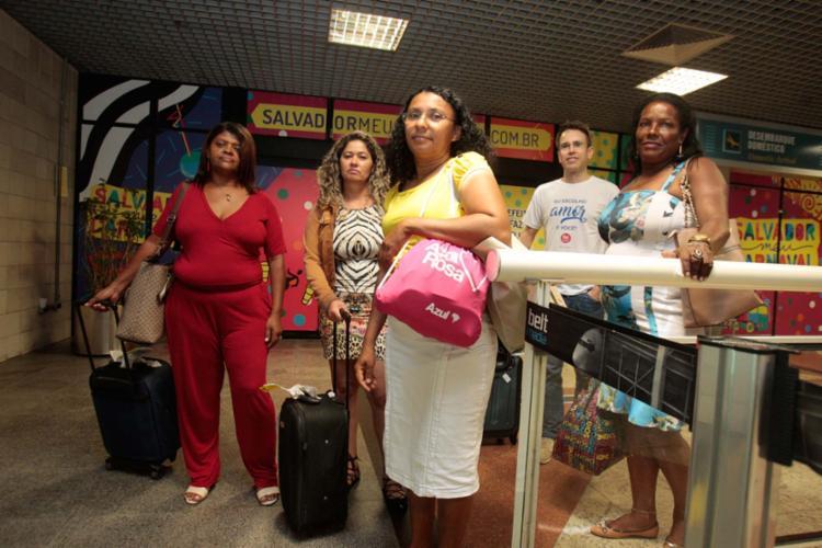 Quatro mulheres de Juazeiro desembarcaram na capital baiana - Foto: Divulgação