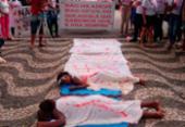 Ato contra feminicídio reúne cerca de 300 pessoas em Serrinha | Foto: Tiago Souza