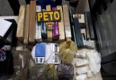 Jovem é presa com metralhadora e 21 kg de drogas em Feira de Santana | Foto: Divulgação | SSP