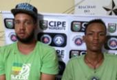 Dupla é presa com dinheiro falso e armas no interior da Bahia | Foto: Divulgação | SSP