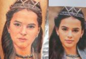 Fã tatua rosto de Bruna Marquezine na perna | Foto: Reprodução | Instagram