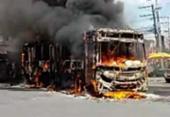 Ônibus é incendiado no bairro de Sussuarana | Foto: Cidadão Repórter | Via WhatsApp
