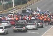 Funcionários da obra do metrô protestam em Salvador | Foto: Divulgação | Transalvador