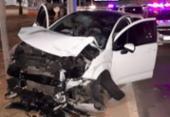 Suspeitos de roubo capotam carro nas proximidades da Estação Mussurunga | Foto: Divulgação | Polícia Militar