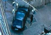 Motorista perde controle e colide carro contra muro em Nazaré | Foto: Reprodução | TV Record