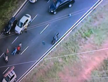 O acidente foi na Bonocô, sentido Centro - Foto: Reprodução   TV Record