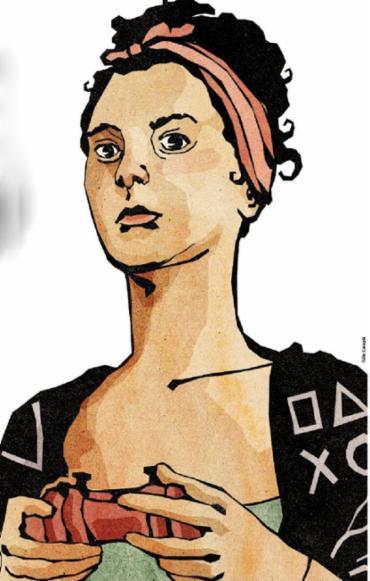 Movimento #MyGameMyName revela discriminação contra mulheres que jogam - Foto: Túlio Carapiá | Editoria de Arte de A TARDE