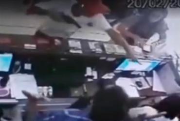 Funcionário de clínica é agredido durante assalto na Bahia | Reprodução