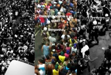 Bruno Gagliasso publica agressões de policiais contra foliões no Carnaval   Reprodução   Instagram