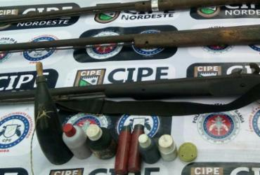 Quatro espingardas são apreendidas na cidade de Itapicurú | Divulgação | SSP