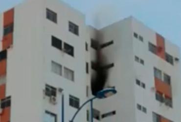 Incêndio atinge nono andar de um prédio no Imbuí | Reprodução