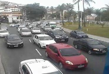 Operação de manutenção da Coelba deixa o trânsito congestionado no Rio Vermelho | Divulgação | Transalvador