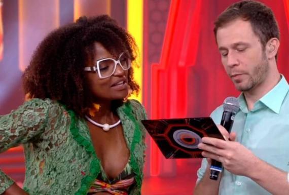Nayara é eliminada com 92,69% dos votos e é criticada por Leifert | Reprodução | TV Globo