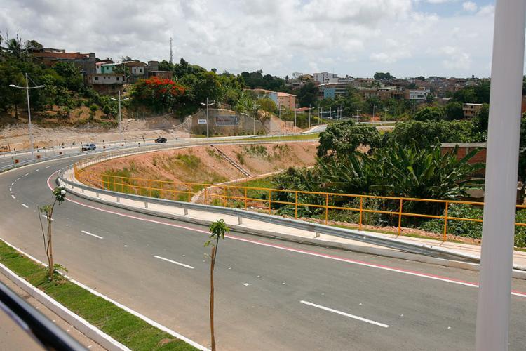 Av. Mário Sérgio Pontes de Paiva será inaugurada às 9h e tem 4 km de extensão - Foto: Luciano da Matta l Ag. A TARDE