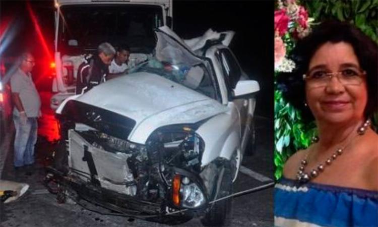 Vítima foi arremessada para fora do veículo - Foto: Reprodução | Blog do Marcelo