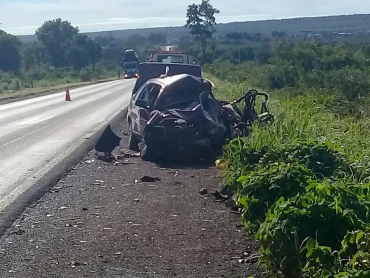 Vítima estava Ford Versailles quando foi atingido por um outro carro - Foto: Reprodução | Blog do Sigi VIlares