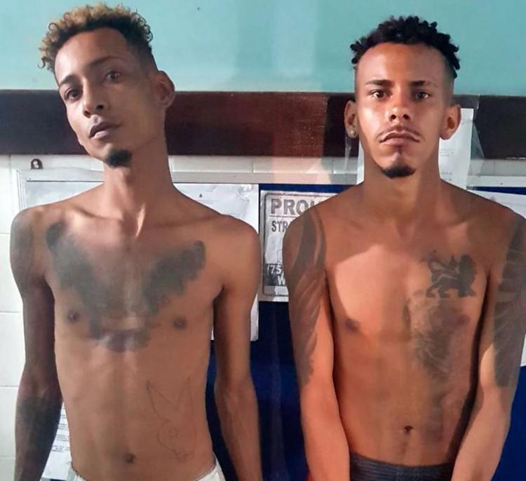 Evert Silva e Marcos Souza Fernando foram encaminhados para a Delegacia Territorial de Candeias - Foto: Divulfação | SSP-BA