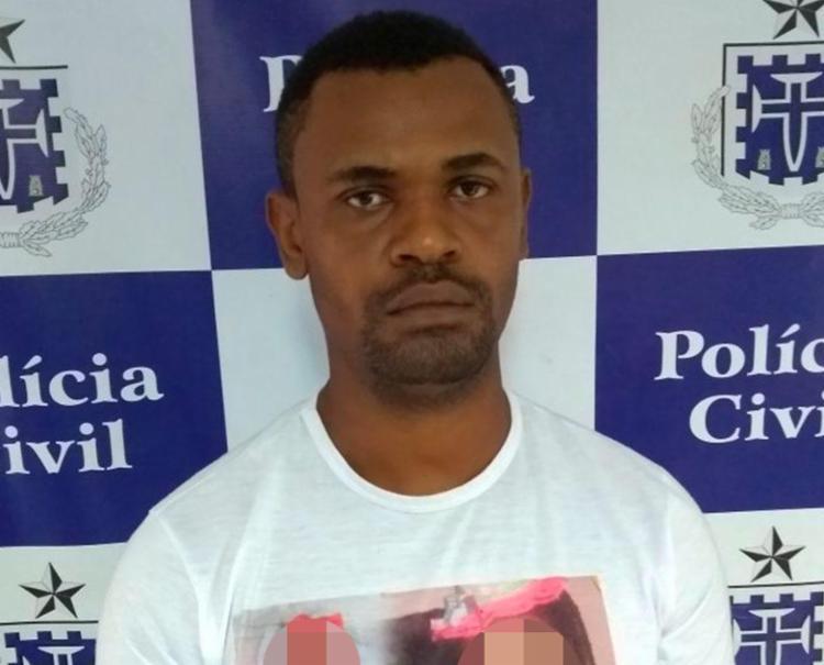 Homem estava na casa de familiares quando foi preso - Foto: Divulgação | Polícia Civil