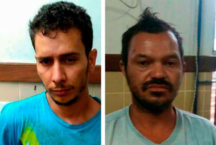 Tarciso (à direita) e Antônio foram detidos em Iraquara e Novo Horizonte, respectivamente - Foto: Divulgação | SSP-BA