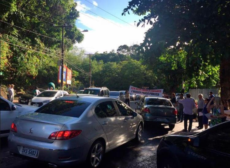 Ato deixou o trânsito congestionado no bairro - Foto: Divulgação