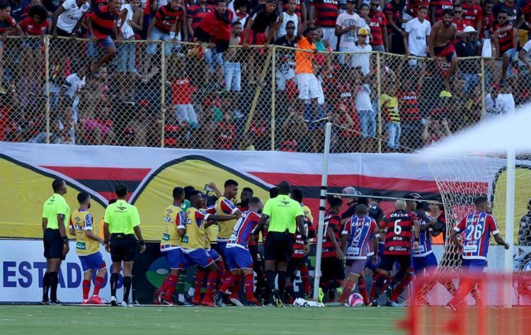 Doze jogadores foram denunciados após a confusão no clássico - Foto: Felipe Oliveira | EC Bahia