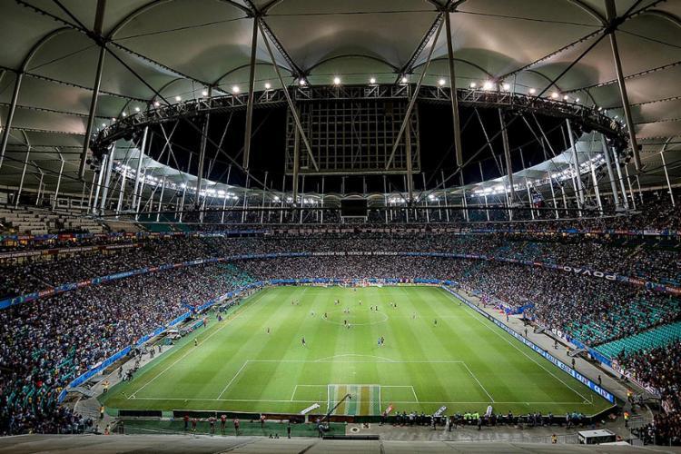 A alteração do piso é um dos pontos que o clube discute com a Arena para a renovação de contrato - Foto: Divulgação l Itaipava Arena Fonte Nova