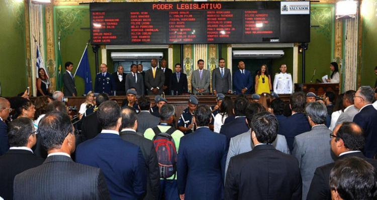 """""""Temos que acelerar os trabalhos ainda nesse primeiro semestre"""", diz presidente da Câmara Léo Prates - Foto: Reginaldo Ipê   Divulgação"""