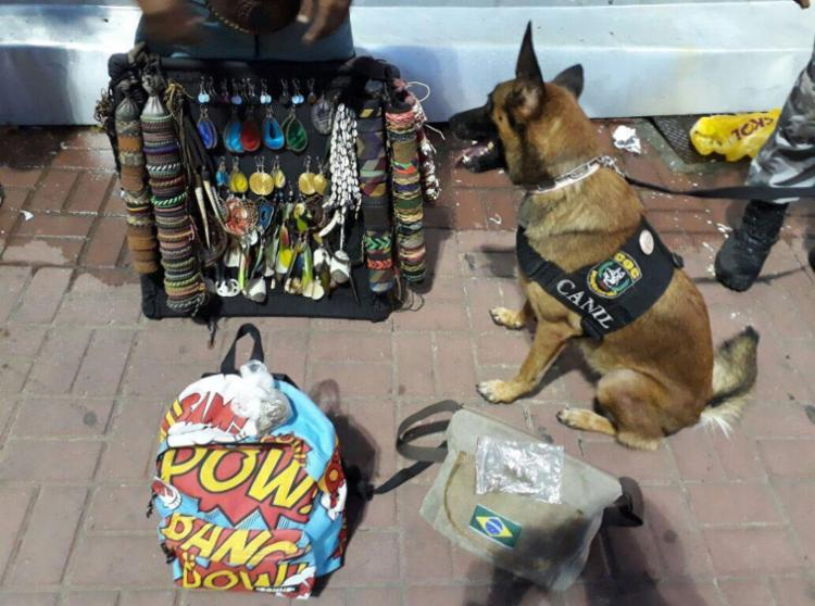 Endy achou maconha na mochila do vendedor - Foto: Divulgação | SSP