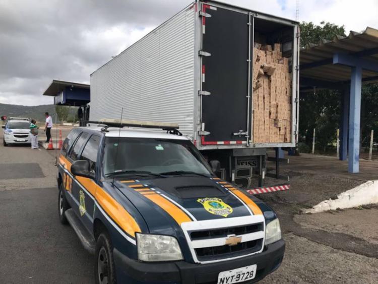 Material foi encontrado após a denúncia de um funcionário de uma empresa de rastreamento - Foto: Divulgação | Polícia Rodoviária Federal