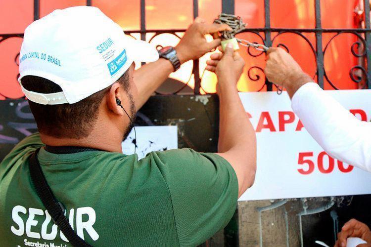 Camarote foi interditado no sábado por irregularidades - Foto: Divulgação