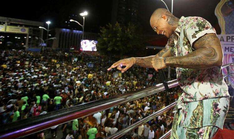 Léo Santana estará presente no arrastão da Barra-Ondina - Foto: Adilton Venegeroles | Ag. A TARDE