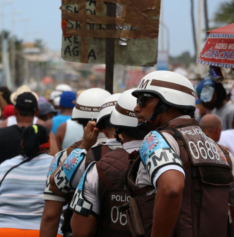 Dez pessoas foram presas em flagrante nos circuitos da festa - Foto: Alberto Maraux | SSP