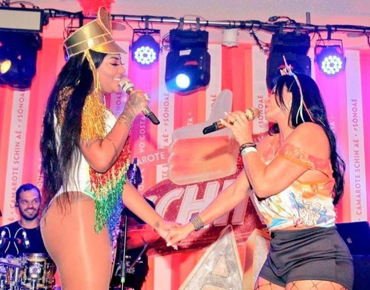 Dançarina fez uma participação especial no show de Ludmilla no camarote Schin Aê - Foto: Reprodução | Instagram