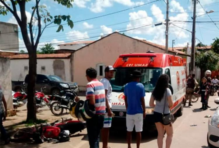 Vítima foi atendida pelo Samu e encaminhada para hospital - Foto: Reprodução | Sigi Vilares
